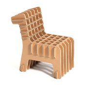 chaise cardboard carre